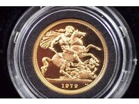 Great Britain 1979 Gold Full Sovereign Elizabeth II in Proof Condition