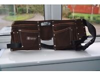 BRAND NEW ALL LEATHER WORK TOOL BELT, IN DARK BROWN