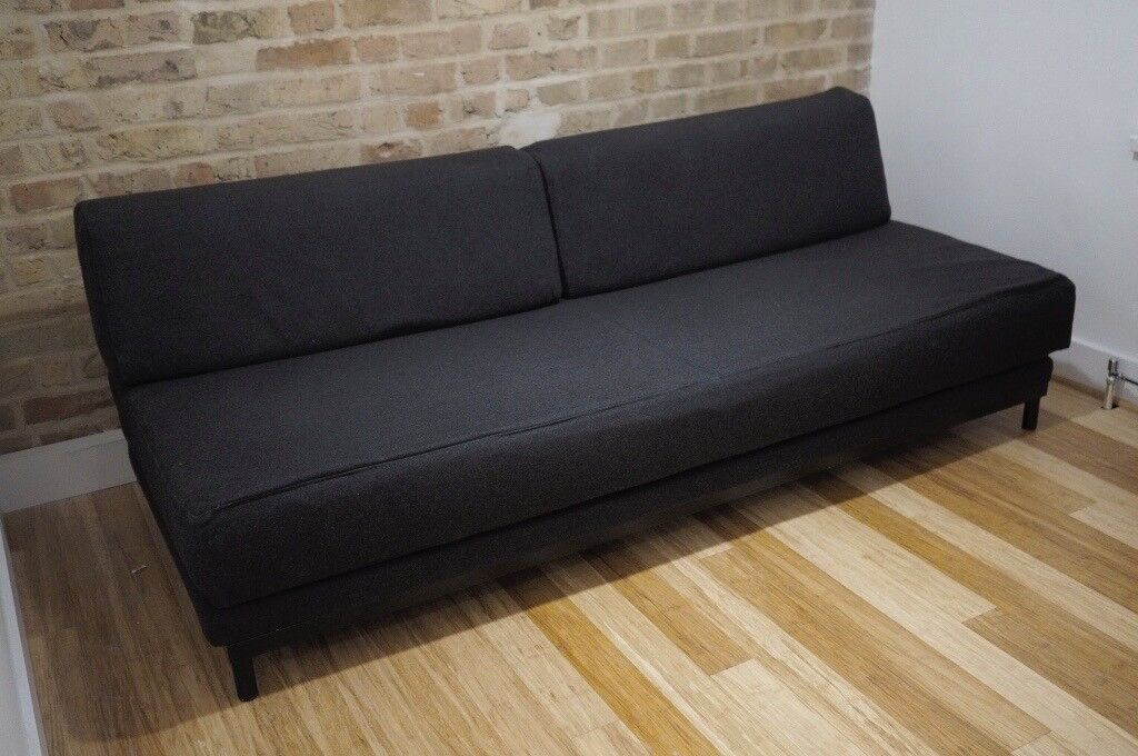 Muji T2 Sofabed Felt Grey Excellent Condition In Leytonstone