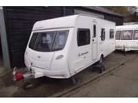 R&K CARAVANS 2008 LUNAR LEXON 4 BERTH FIXED BED WITH 12 MONTHS WARRANTY SUBJECT TO CONDITIONS