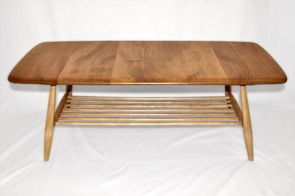 Vintage Retro 60 S Ercol Windsor Coffee Table With Magazine Rack As New Fully Renovated