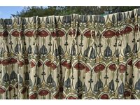 Hand made Dunelm curtains for sale £200.00 the pair.