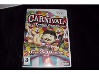 "NINTENDO WII GAME ""CARNIVAL FUNFAIR GAMES"" COMPLETE IN BOX"