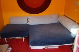 Ikea sofa and chair set doubles as a sofa bed can be delivered