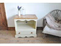 Restored Solid Pine TV Stand painted in Annie Sloan