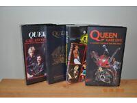 4 x various Queen VHS videos