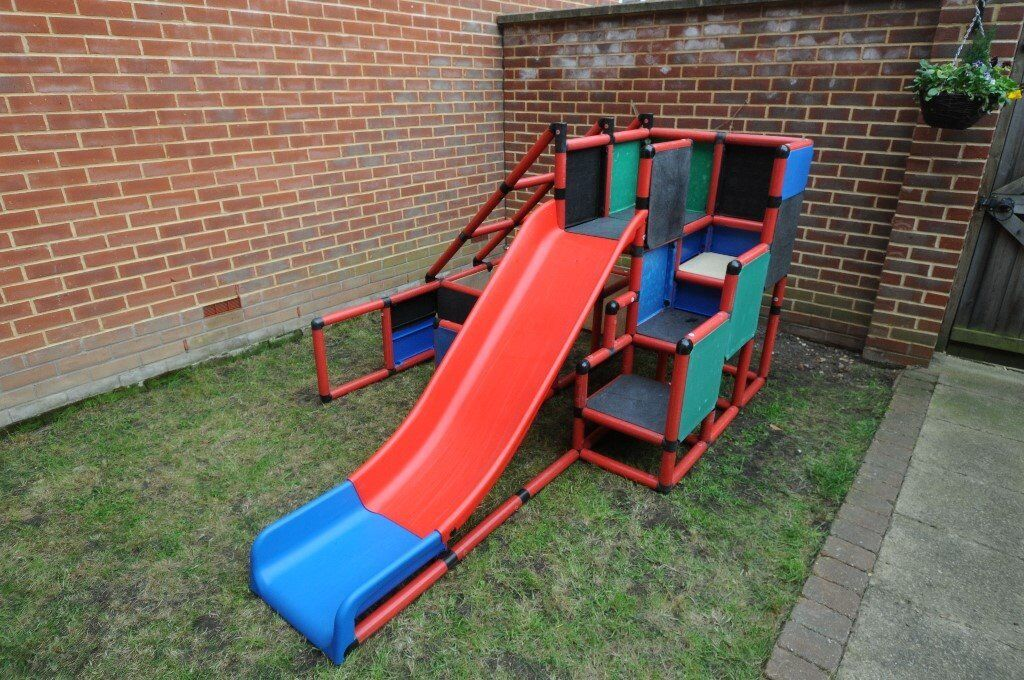 Quadro outdoor play frame / playhouse with slide and wheels | in Norwich,  Norfolk | Gumtree