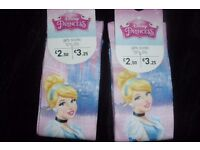 NEW PACK OF 2 DISNEY PRINCESS SOCKS SIZE 12.5- 3.5 NEVER BEEN WORN