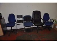 JOB LOT! 5 x Office chairs