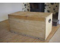 Wooden travel chest