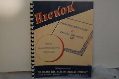 Operating Manual For Hickok 536 Tube Tester