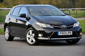 2013 Toyota Auris 1.6 V-Matic Sport 5dr+FREE WARRANTY+1 FORMER KEEPER+FULL TOYOTA SERVICE HISTORY