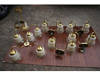 Set of brass lights