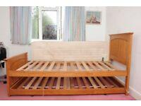 SINGLE HARDWOOD GUEST BED
