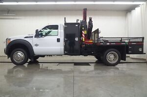 2013 Ford F-550 CHASSIS CAB R/CAB XL 4X4 PICKER TRUCK
