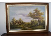 A fantastic huge original oil on board landscape painting signed by Minteer beautifully painted