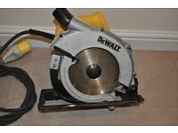 DeWalt Circular Saw 23620 LX 110V . In great working condition !
