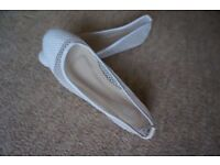 ballet shoes, Pair of ballerinas, white netting with sparkling effect