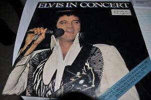 2 album 33 tours D'elvis en concert