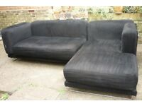 Black Ikea Corner Sofa