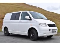 VW Transporter T5 camper/ day van (SWB) with full width RIB bed, 6 seats with belts, leisure battery