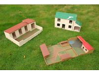 Wooden Dolls House, Farm and Stables