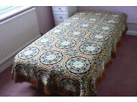 Tapestry woollen blanket /bedspread