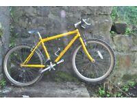 Retro Claud Butler mountain bike. Yellow. Classic bicycle £50.00 ONO