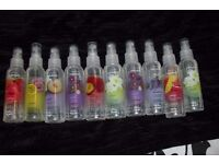NEW 10 BOTTLES OF AVON INSTANT FRESHNESS SPRAYS ALL VARIOUS FRAGRANCES