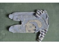 NEXT blue baby boy suit dinosaur 0-1 month