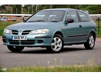 2001 Nissan Almera 1.5 S 3dr+JUST SERVICED+VERY LOW MILEAGE+READY TO DRIVE AWAY+12 MONTHS MOT