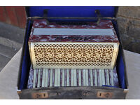 vintage 1940s albani piano accordion accordian