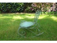 Weathered garden chair ornament