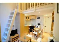 -An amazing studio with a balcony in West Kensington
