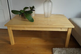 Large, solid wood, IKEA coffee table