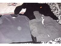 SELECTION OF MEN'S JUMPERS SIZE LARGE + X LARGE IDEAL AS WORK JUMPERS