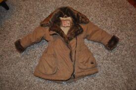 Girls brown winter coat 12-18 months, Little Rocha, excellent condition