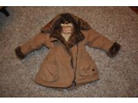 Girls brown winter coat 12-18 months, Little Rocha, excellent condition