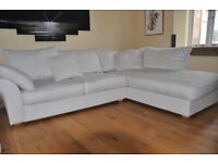 Lounge suite, Corner chaise sofa, 3 seater, chair and footstool.