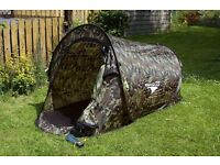 USED ONCE 2 MAN POP UP CAMO TENT