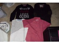 SELECTION OF BOYS CLOTHES AGE 8-9 YEARS CARDIGAN, JUMPER, SHIRT, T-SHIRT
