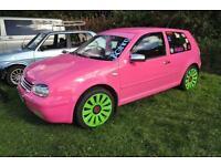 Pink Mk4 Golf gttdi