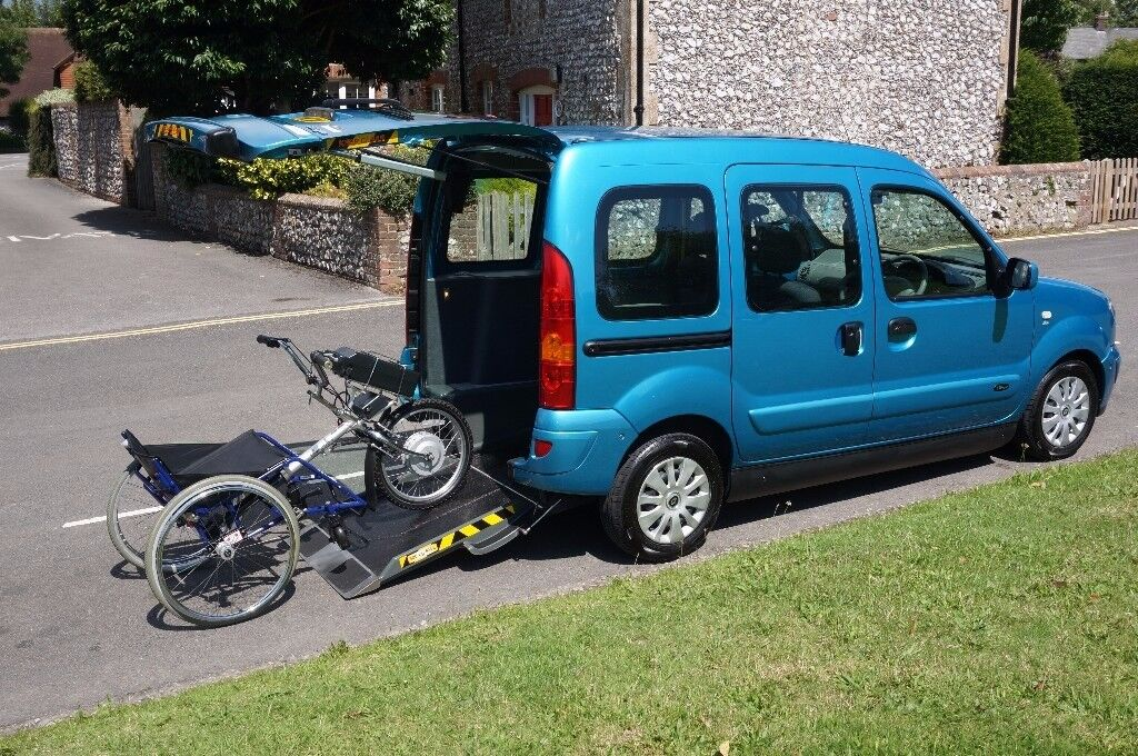 RENAULT KANGOO WHEELCHAIR ACCESS VEHICLE WAV RAMPS, FREE PDQ MOBILITY SCOOTER TRIKE, CAN DELIVER