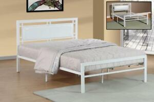 DOUBLE BED - FOR RUSTIC WOOD OR TUFTED UPHOLSTERED FABRIC HEADBOARDS - VISIT KITCHEN AND COUCH	 (BD-1095)