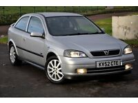 2002 Vauxhall Astra 1.8 i 16v SXi 3dr+FREE WARRANTY+JUST SERVICED+READY TO DRIVE AWAY+NICE CAR