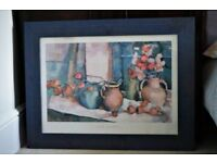 *** Sarah Spackman Framed Print – Large Blue Wooden Frame***