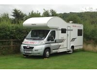 6 Berth Motor home/ Camper Van Hire- WINTER DEAL £495 PER WEEK TILL END OF FEB 2017 -01954 782 812