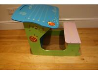 Child desk seat - bought new in smoke free and per free home