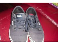 "SIZE 4.5 PAIR ""VANS"" NAVY LACE UP PUMPS HARDLY BEEN WORN"