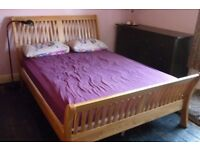 King Size Wooden Sleigh Bed 5ft